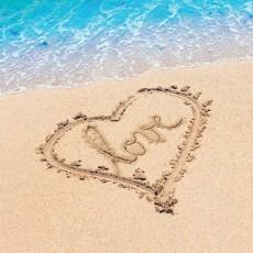 Hawaiian Beach Love Lunch Napkins