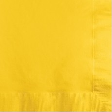 School Bus Yellow Lunch Napkins 33cm x 33cm Pack of 50