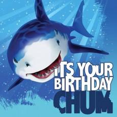 Shark Splash It's Your Birthday Chum Lunch Napkins Pack of 16