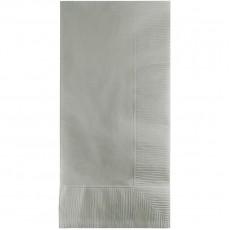 Shimmering Silver Dinner Napkins 40cm x 40cm Pack of 50