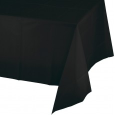 Black Velvet Tissue with Plastic Back Table Cover
