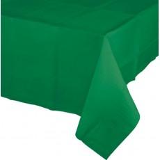 Emerald Green Tissue & Plastic Back Table Cover