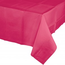 Hot Magenta Tissue & Plastic Back Table Cover 137cm x 274cm