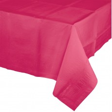 Magenta Hot Tissue with Plastic Back Table Cover
