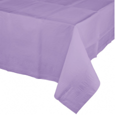 Lavender Lucious Tissue & Plastic Back Table Cover