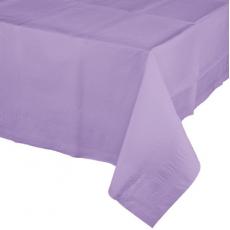 Lavender Luscious Tissue & Plastic Back Table Cover