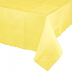 Yellow Mimosa Tissue & Plastic Back Plastic Table Cover