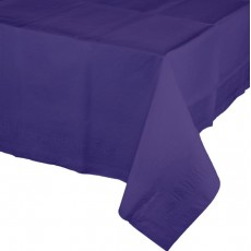 Purple Tissue & Plastic Back Table Cover