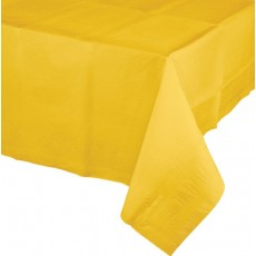 Yellow School Bus Tissue & Plastic Back Table Cover