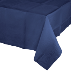 Blue Navy Tissue & Plastic back Table Cover