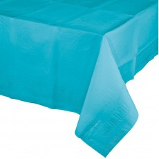 Blue Bermuda Tissue & Plastic Back Table Cover