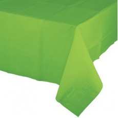 Green Fresh Lime Tissue & Plastic Back Table Cover