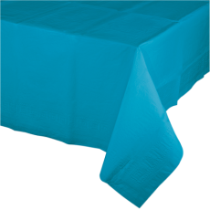 Blue Turquoise Tissue & Plastic Back Table Cover