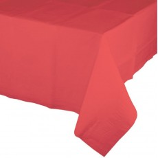 Coral Party Supplies - Table Cover Tissue & Plastic Back