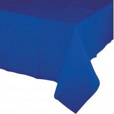 Cobalt Blue Tissue & Plastic Back Table Cover 137cm x 274cm