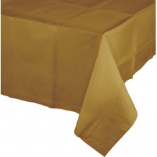 Glittering Gold Tissue & Plastic Back Table Cover