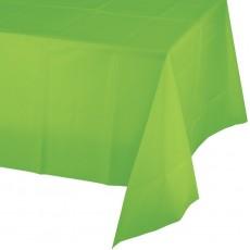Fresh Lime Green Plastic Table Cover 137cm x 274cm