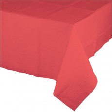 Coral Plastic Table Cover