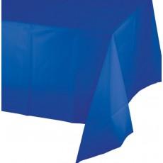 Cobalt Blue Plastic Table Cover 137cm x 274cm