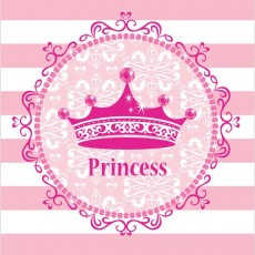 Princess Celebrations Pink Plastic Table Cover