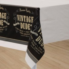 Vintage Dude Plastic Table Cover