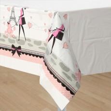 Party in Paris Plastic Table Cover 137cm x 259cm