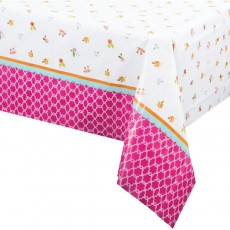 Tea Time Plastic Table Cover