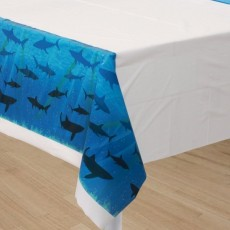 Shark Splash Blue  Plastic Table Cover