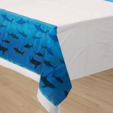 Shark Splash Plastic Table Cover 137cm x 274cm