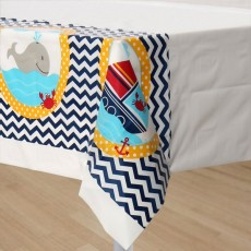 Ahoy Matey Plastic Table Cover