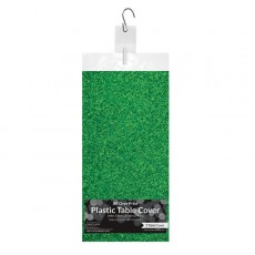 Soccer Green Fanatic Grass All Over Plastic Table Cover