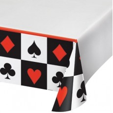 Casino Night Card Night Plastic Table Cover