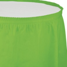 Green Fresh Lime Plastic Table Skirt