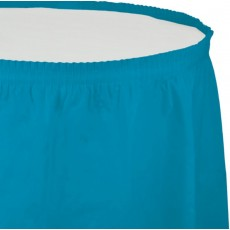 Blue Turquoise Plastic Table Skirt