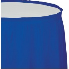 Blue Cobalt Plastic Table Skirt