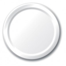 Round White Paper Lunch Plates 18cm Pack of 24