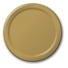 Round Glittering Gold Lunch Plates 18cm Pack of 24