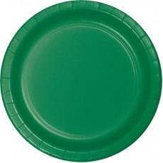 Round Emerald Green Paper Lunch Plates 18cm Pack of 24