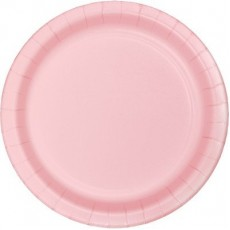 Pink Classic Paper Lunch Plates