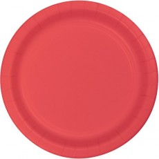Coral Party Supplies - Lunch Plates