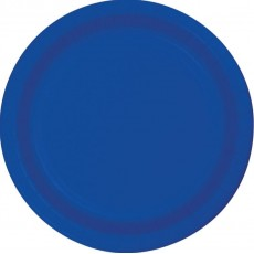 Cobalt Blue Paper Lunch Plates 18cm Pack of 24