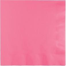 Candy Pink Beverage Napkins 25cm x 25cm Pack of 50