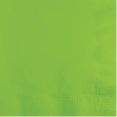 Fresh Lime Green Beverage Napkins 25cm x 25cm Pack of 50