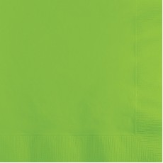 Green Fresh Lime  Beverage Napkins