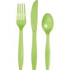 Green Fresh Lime Celebrations Plastic Cutlery Sets