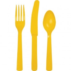 Yellow School Bus Celebrations Cutlery Sets
