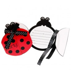Ladybug Fancy Bulk Invitations
