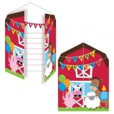 Farmhouse Fun Party Supplies - Invitations Gatefold