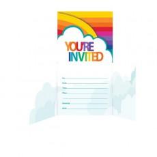 Rainbow Diecut Gatefold Invitations