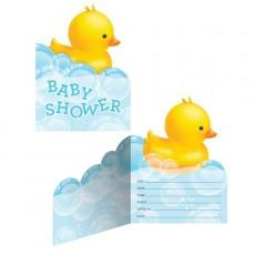 Bubble Bath Fold Over Invitations
